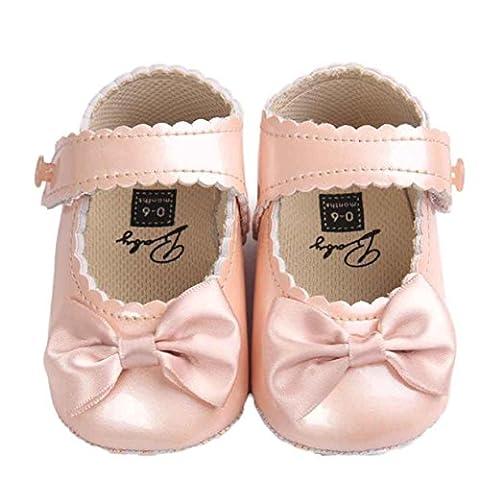 Bébé Fille Chaussures en Cuir, Reaso Bowknot Sneaker Anti-slip Soft
