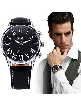 Kolylong® Neue Luxus-Herren-Leder-analoge Quarz-Armbanduhr