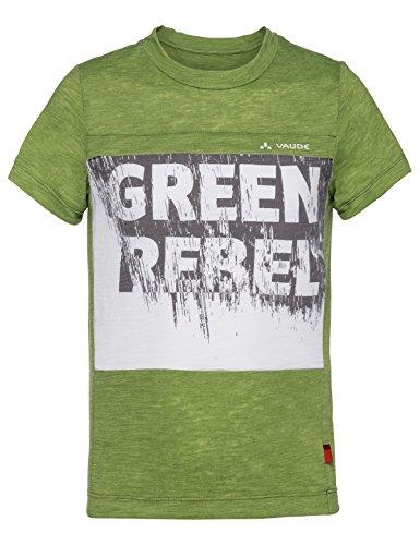 Vaude Jungen Tammar Shirt Boys T, Green Pepper/White, 122/128
