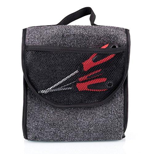 Kofferraumtasche mit Klett (haftet an Kofferraum) Organizer Werkzeugtasche 26 x 16 x 26 cm [014]