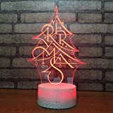 Best General Electric Christmas Trees - Fushoulu Christmas Tree 3D Lamp Bedside 3D Light Review