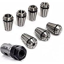 fresado - Dxlta 7 Pcs/Set 1-7mm ER11 Collares de primavera + ER11A 5 mm Motor de varilla de extensión Kit de soporte del eje para torno fresado cnc Set