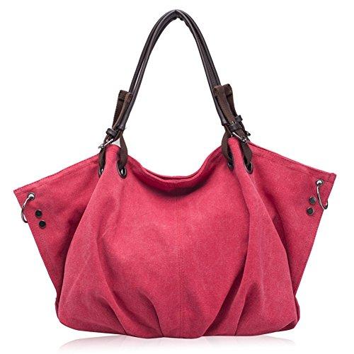 Umhängetasche Damen Schulterbeutel Abendtaschen Pink fanhappygo Fashion Canvas Tragetasche Handtaschen qaxWS7P1O7
