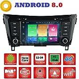ANDROID 8.0 GPS DVD USB SD WI-FI Bluetooth MirrorLink autoradio 2 DIN navigatore Nissan Qashqai/Nissan X-Trail 2014, 2015, 2016, 2017, 2018