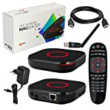 MAG 324 original Infomir & HB-DIGITAL IPTV Set TOP Box Multimedia Player Internet TV IP Receiver (HEVC H.256 Support) + HB Digital WLAN Stick mit Antenne + HDMI Kabel