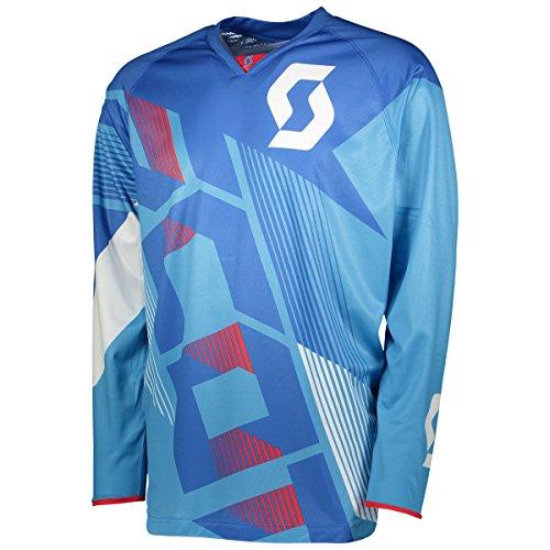 Scott 350 Dirt MX Motocross Jersey / DH Fahrrad Trikot blau/weiß 2018: Größe: XXL (54/56)