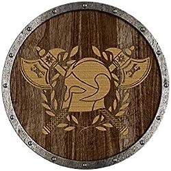 Holzspielerei Ronda Panel de Escudo Vikingo Thrall en Madera Pintada, Madera, Escudo 73.804-5