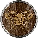 Ronda panel de Escudo vikingo Thrall en madera pintada, madera, Escudo 73.804-5