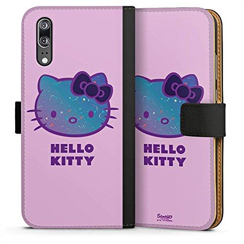DeinDesign Huawei P20 Tasche Leder Flip Case Hülle Hello Kitty Merchandise Fanartikel Universe