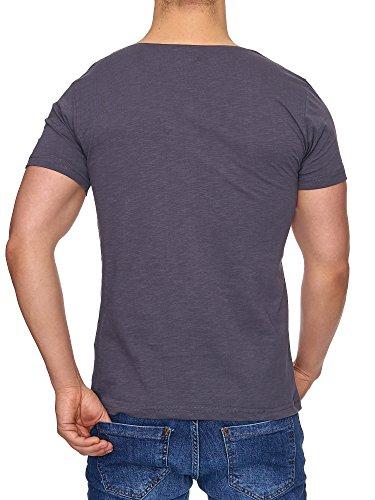 TAZZIO Herren Rundkragen T-Shirt 17105 Anthrazit