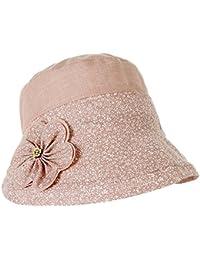 Leisial Femme Bob Chapeau melon en coton Chapeau de soleil Anti-soleil Respirant Anti UV pour Été Loisir Voyage