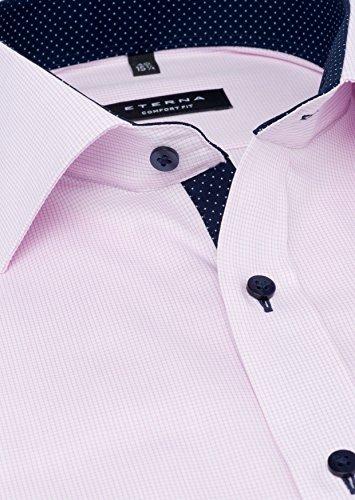 Michaelax-Fashion-Trade - Chemise business - À Carreaux - Col Chemise Classique - Manches Longues - Homme Rose - Rosa (52)