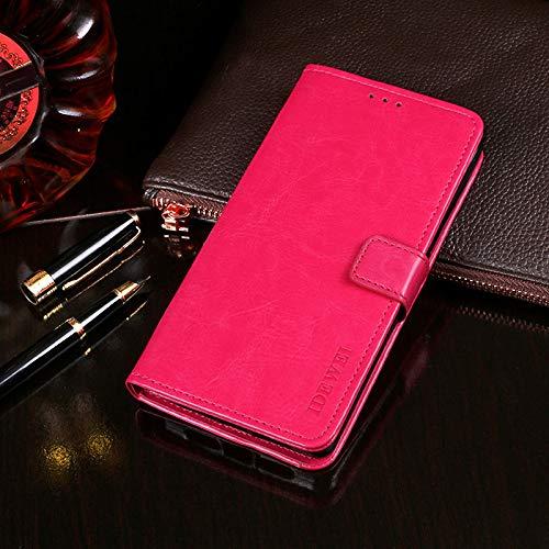 Belle Rose Geldbörse (BELLA BEAR Case für Ulefone Note 7,Leder Brieftasche Geldbörse Halterung Funktion Weichem PU Material Phone Case Cover for Ulefone Note 7 Hülle(Rose rot))