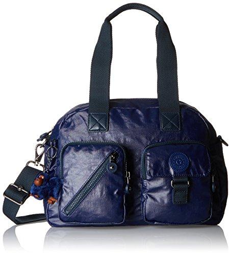 Kipling Defea, Bolso de Hombro Mujer, Azul (Lacquer Indigo), 33x24.5x19 cm