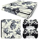 Sony PS4 Playstation 4 Slim Skin Design Foils Aufkleber Schutzfolie Set - Camouflage 2 Motiv