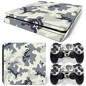 Sony PS4 Playstation 4 Slim Skin Design Foils Aufkleber Schutzfolie Set – Camouflage 2 Motiv