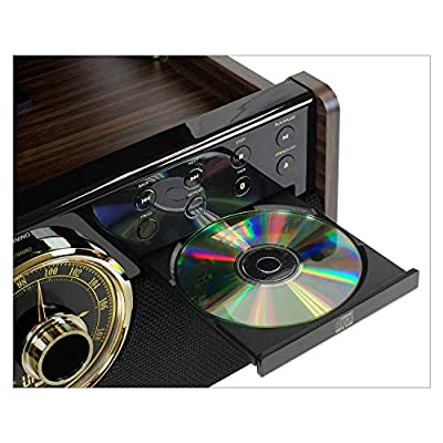 Victrola Empire 6-in-1 Bluetooth Turntable Music Centre - Expresso