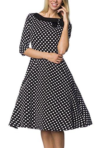 Rockabilly-Kleid-schwarzwei