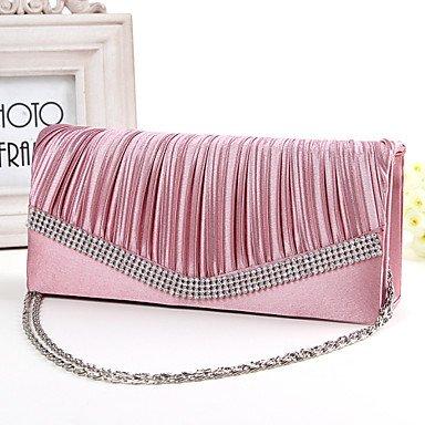 SUNNY KEY-Pochette e Clutch@Donna Seta Matrimonio Borsa da sera Bianco / Rosa / Blu / Dorato / Rosso / Nero / Fucsia blushing pink