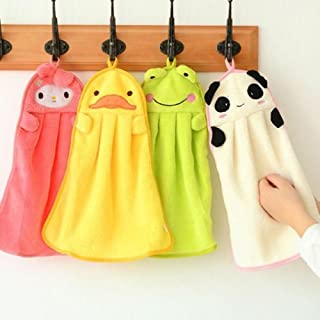 UCTOP STORE 4 Pcs Cute Animal Microfiber Kids Children Cartoon Absorbent Hand Dry Towel Lovely Towel For Kitchen Bathroom Use