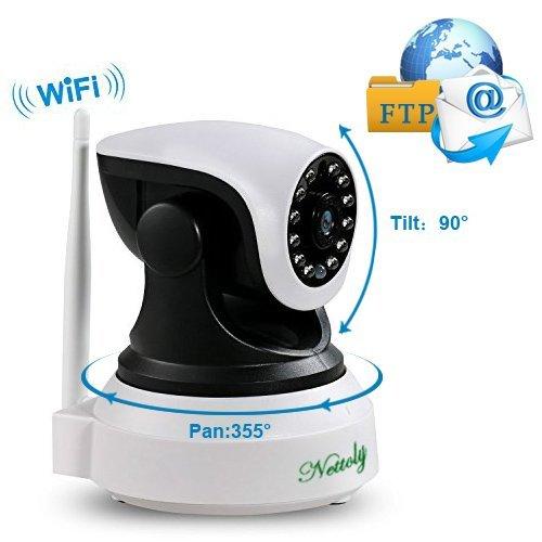 Überwachungskamera Sicherheitskamera IP Kamera mit WiFi HD Wireless WLAN Kamera Kamera-Sicherheitssystem 720P P2P IR Nachtsicht drahtlose IP Camera für Security Home Baby Monitor 1 + 3M Netzkabel (Sicherheits-kamera-signal)