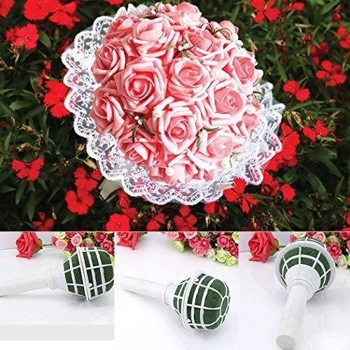 Blumenstrauß Hochzeit Halter Brautschmuck DIY Blumen Schaumstoff Dekoration Blumenmuster Griff