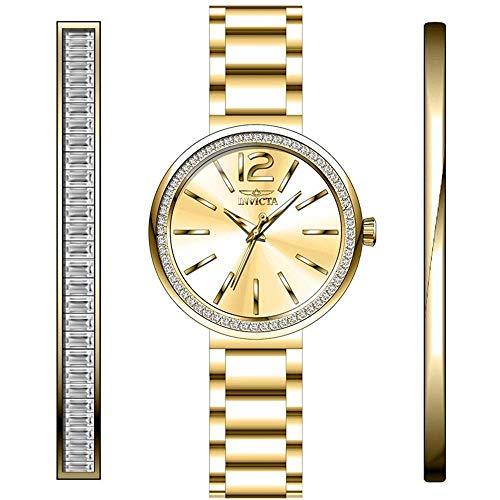 Invicta Angel Reloj de Mujer Cuarzo analógico Correa y Caja de Acero 29269