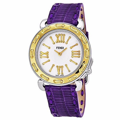 Fendi Women's Selleria 35mm Leather Band Swiss Quartz Watch F8001345H0.TSN3