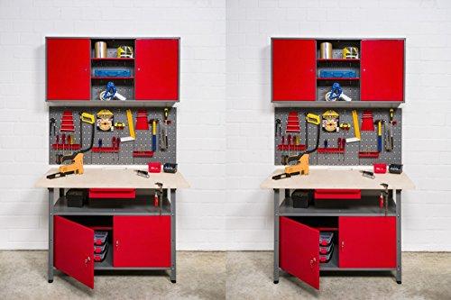 Kreher XXL Werkstatt 8tlg. 2 Werkbänke, jeweils 120 x 60 x 85 cm, mit zwei Werkzeugschränken...