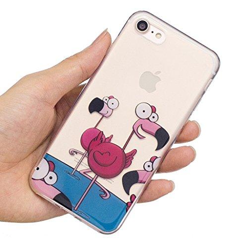 """Hülle für Apple iPhone 7 , IJIA Transparente Grün Bananenblätter TPU Weich Silikon Stoßkasten Cover Handyhülle Schutzhülle Handytasche Schale Case Tasche für Apple iPhone 7 (4.7"""") WL7"""