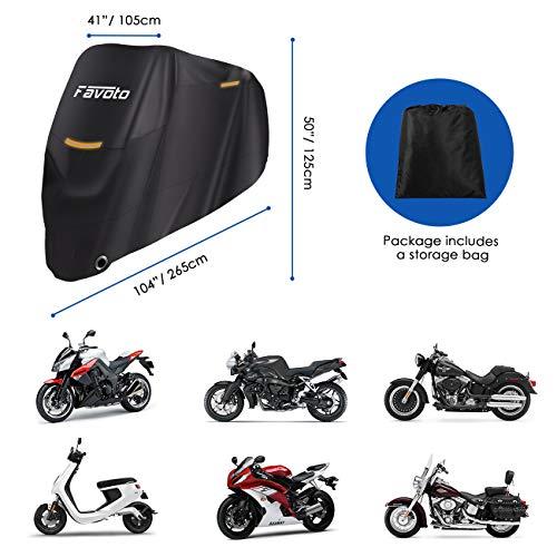 d15930261d6 Favoto Funda para Moto Cubierta de la Motocicleta 210T Protectora Poliéster  con.