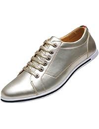 Zapatos de Cordones para Hombre, Zapatos de Hombre de Cuero PU, Zapatos de Vestir