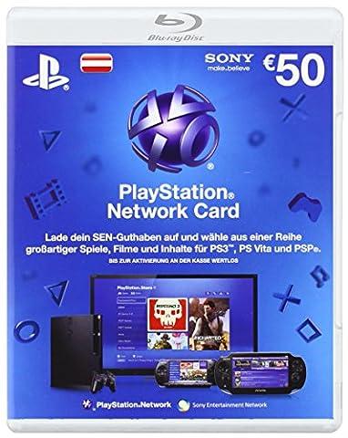 PlayStation Network Card 50 € [Guthabenkarte für österreichisches PSN-Konto] (Ps Network Online)