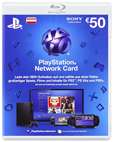 PlayStation Network Card 50 € [Guthabenkarte für österreichisches PSN-Konto]