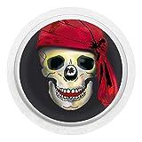 Totenkopf mit Mütze - Sticker Aufkleber für FreeStyle Libre Sensor Farbe schwarz