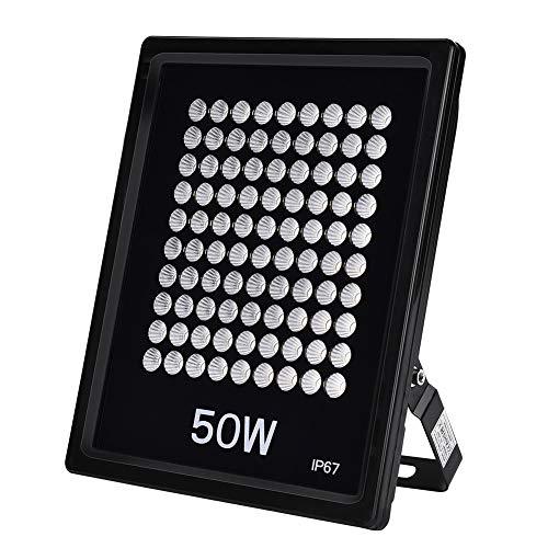 LED-Sicherheitslicht, 30 W, 50 W, 100 W, 100 lm/W, Außenwand, IP67, wasserdicht, Flutlicht für Terrasse, Park, Straßen, Platz, Parkplatz Modern 50W Warmweiß - 2 Erhöhten Panel