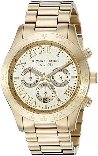 Micheal Kors Herren-Armbanduhr XL Analog Quarz Edelstahl MK8214