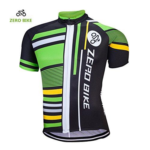 ZEROBIKE Zero Bike Herren Radtrikot kurzes Radtrikot atmungsaktiv schnell trocknend Sportbekleidung Fahrradbekleidung, Herren, Typ 3, XX-Large -