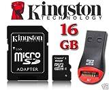 Die besten KINGSTON Kameras - Kingston 16GB microSDHC Micro-SD-HC-Speicherkarte für TomTom Start 60 Bewertungen