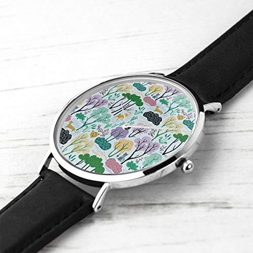 shion Minimalist Armbanduhren Cheetahs Hellblau Wasserdicht Quarz Beiläufige Uhr Mens Womens ()