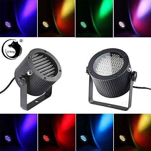 U`King LED Par Licht RGBW Lichteffekt DMX512 RGB Disco DJ Bühnenbeleuchtung, automatisierte und Sprachaktivierte Stage Lights für Party Weihnachten Disco, Ballsaal, Bar, Bühne und Club (Typ1-25W) (Grüne Weihnachten Net Lichter)