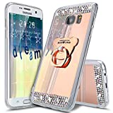ikasus Coque Galaxy S6 Edge Plus Etui [Support d'ours] Placage brillant Strass bling...