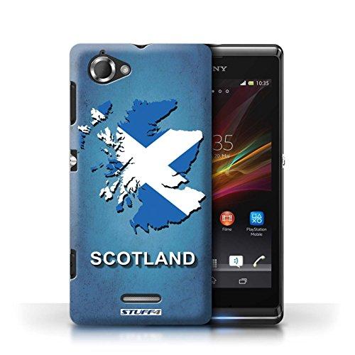 Kobalt® Imprimé Etui / Coque pour Sony Xperia L/C2105 / Suède/Suédois conception / Série Drapeau Pays Ecosse/écossaise
