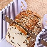 Etach trancheuse à pain Pâtisserie Épaisseur réglable à pain Guide de coupe trop Compact pliable Toast trancher étagère Blanc avec cutter Moule
