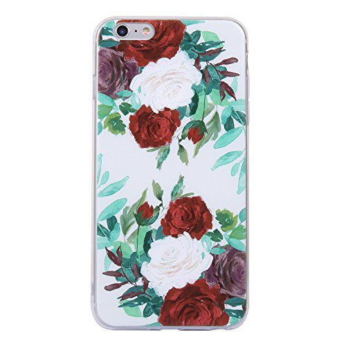 Coque iphone 6/6s, iphone 6/6s Etui TPU , Cozy Hut Sexy Ass Motif Mode Etui Coque TPU Slim pour iphone 6/6s (4.7 pouces) Mode Flexible Souple Soft Case Couverture Housse Protection Anti rayures Mince  Rose rouge et blanc