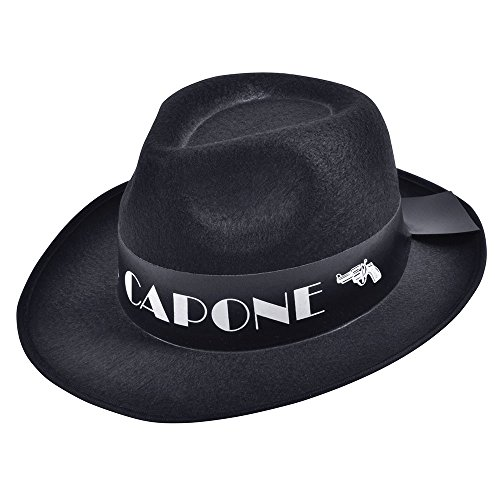 Bristol Novelty bh375AL CAPONE Budget Filz Hat, schwarz, one ()