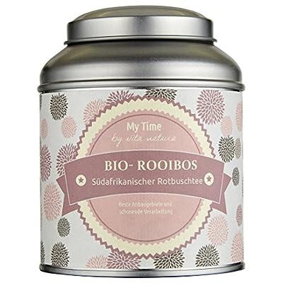 My Time-Thé Rooibos Bio 125g vrac | pur südafrikanischer Thé Rouge en qualité | meilleure Zones de culture et de traitement bio–Dans une boîte à bijoux décorative
