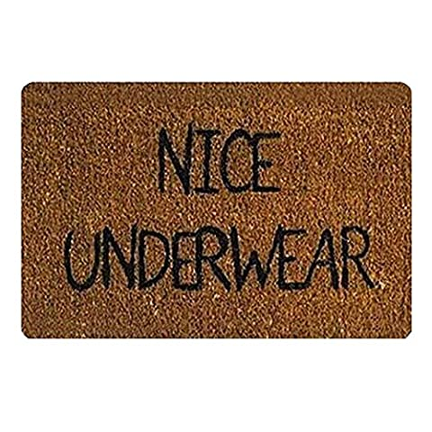 Nice Underwear Custom Doormat Area Rug Non-Slip Door Mats Home Decor for Indoor/Outdoor 23.6(L) X 15.7(W) Inch