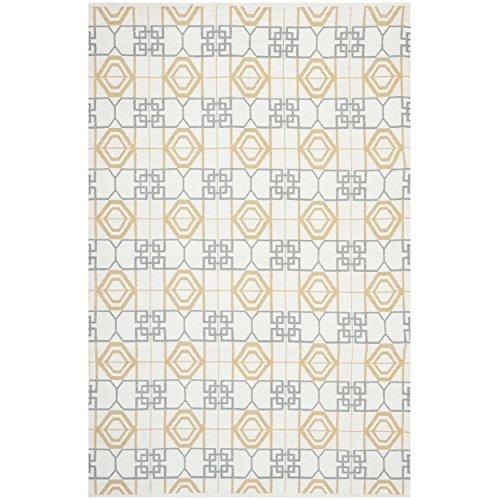 Safavieh Collin Hand Loomed Teppich, TMF127A, Beige / Grau, 152 X 243  cm