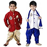 #7: Oshin Boys Crepe Silk Ethnic kurta Pyjama (Pair of 2)